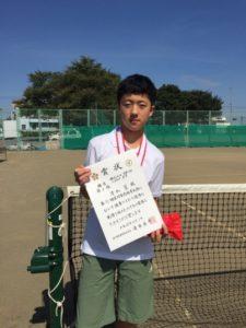 2017立川市市民大会中学男子シングルス3位・清水さん
