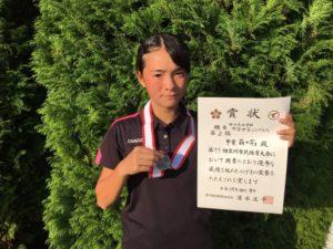 2017立川市市民大会中学女子シングルス準優勝・甲斐さん