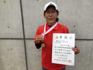 2017立川市市民大会女子シングルスB優勝・清田さん