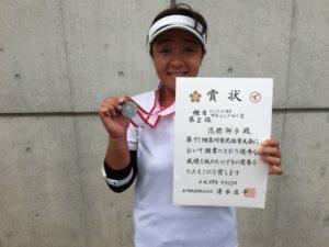 2017立川市市民大会女子シングルスB準優勝・高橋さん