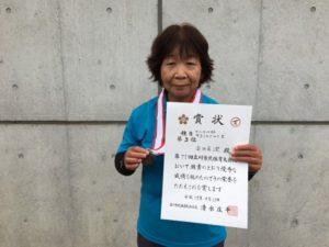 2017立川市市民大会女子シングルスB3位・高田さん