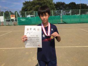 2018立川市市民大会中学男子シングルス優勝・鶴見さん