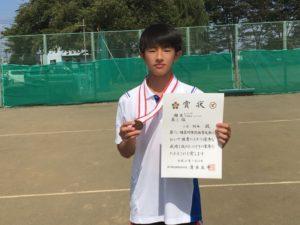 2018立川市市民大会中学男子シングルス3位・小田さん