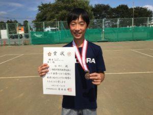 2018立川市市民大会中学男子シングルス3位・柳さん