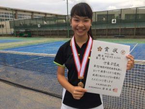 2018立川市市民大会中学女子シングルス優勝・伊藤さん
