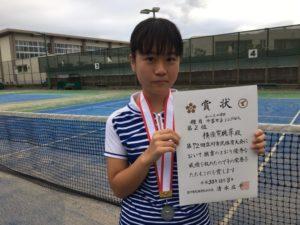 2018立川市市民大会中学女子シングルス準優勝・横須賀さん