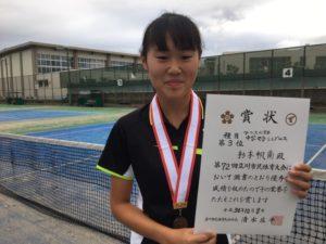 2018立川市市民大会中学女子シングルス3位・杉本さん