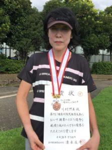 2018立川市市民大会女子シングルスA3位・川村さん