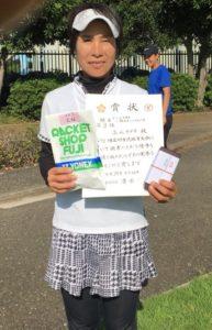 2018立川市市民大会女子シングルスA3位・立山さん