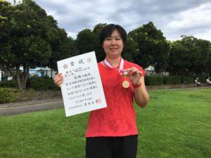 2018立川市市民大会女子シングルスB優勝・高橋さん