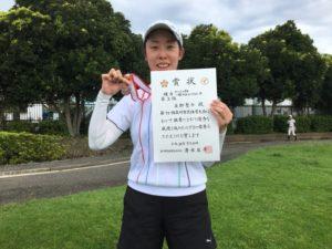 2018立川市市民大会女子シングルスB3位・友野さん